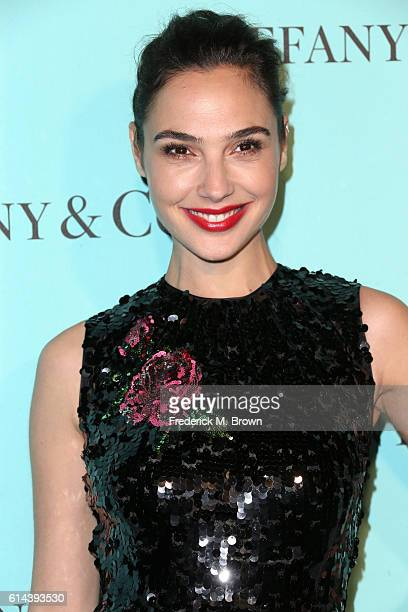 Actress Gal Gadot celebrates the unveiling of the renovated Tiffinay Co Beverly Hills store at Tiffany Co on October 13 2016 in Beverly Hills...