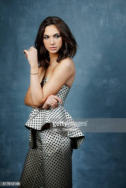 Actress Gal Gadot is photographed for Los Angeles Times on March 18 2016 in Los Angeles California PUBLISHED IMAGE CREDIT MUST READ Jay L...