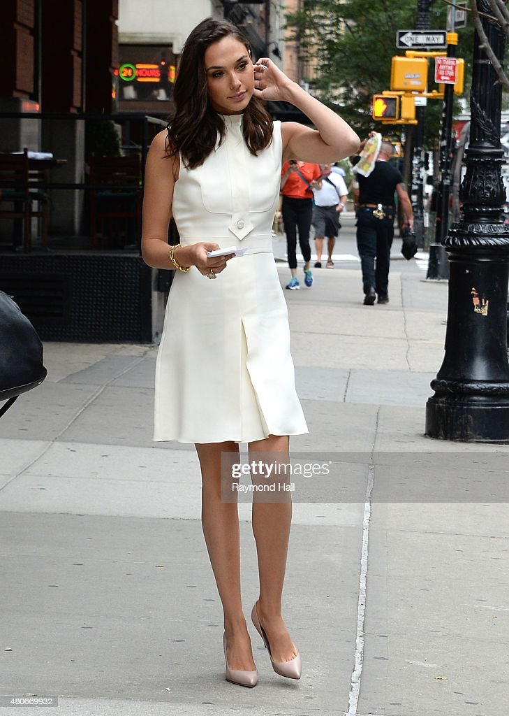 Actress Gal Gadot is seen walking in Soho on July 14, 2015 in New York City.