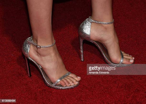 Gal gadot shoes stock photos and pictures getty images actress gal gadot shoe detail arrives at the premiere of 20th century foxs keeping up voltagebd Choice Image