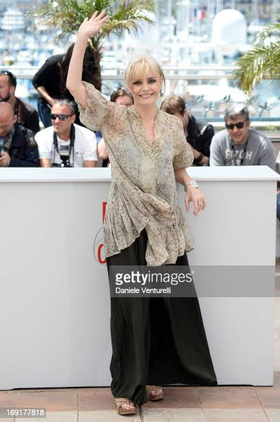 Actress Galatea Ranzi attends the photocall for 'La Grande Bellezza' during the 66th Annual Cannes Film Festival at Palais des Festivals on May 21...