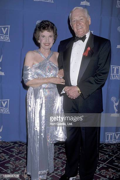 Actress Gale Storm and actor Alan Young attend the 1998 Primetime Creative Arts Emmy Awards on August 29 1998 at Pasadena Civic Auditorium in...