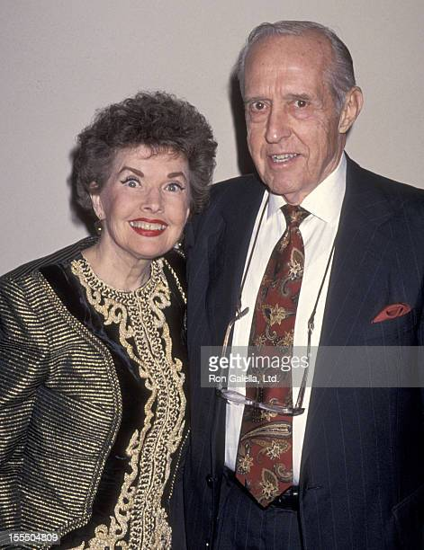 Actress Gale Storm and husband Paul Masterson attend the 11th Annual Museum of Television and Radio Festival KickOff Reception on February 28 1994 at...