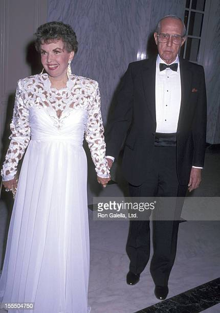 Actress Gale Storm and husband Paul Masterson attend the 14th Annual Angel Awards on February 21 1991 at Regent Beverly Wilshire Hotel in Beverly...