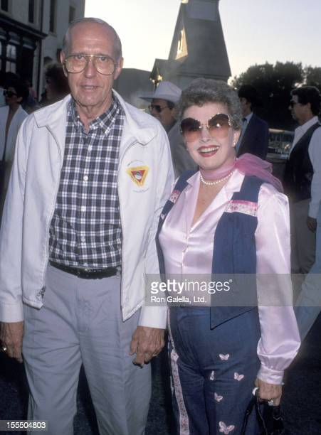 Actress Gale Storm and husband Paul Masterson attend the First Annual Pro Celebrity Rodeo Weekend Cocktail Party on August 11 1989 at Los Angeles...