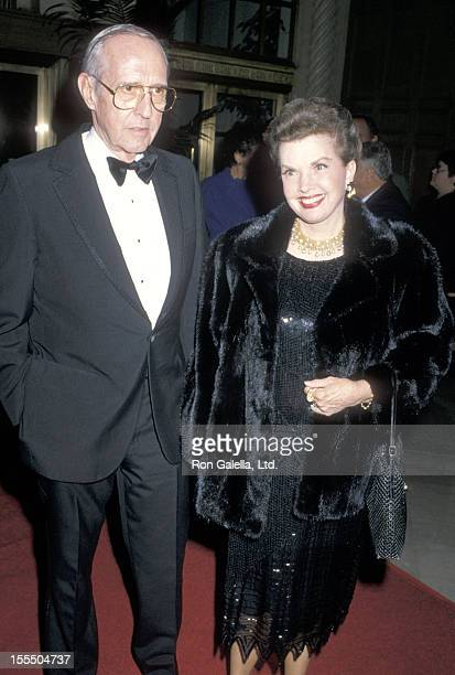 Actress Gale Storm and husband Paul Masterson attend the Murder She Wrote 100th Episode Celebration on February 12 1989 at The Biltmore Hotel in Los...