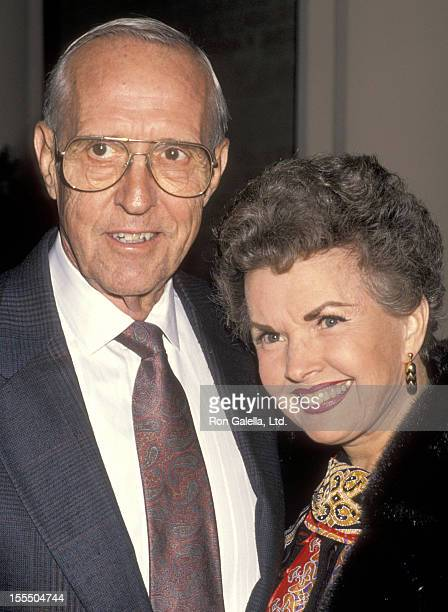 Actress Gale Storm and husband Paul Masterson attend The Museum of Broadcasting's Seventh Annual Television Festival KickOff Cocktail Reception on...