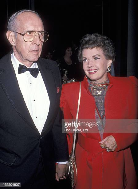 Actress Gale Storm and husband Paul Masterson attend the Seventh Annual American Cinema Awards on January 27 1990 at Beverly Hilton Hotel in Bevelry...