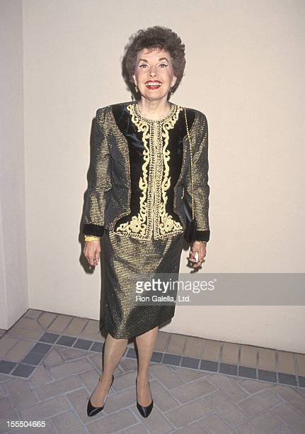 Actress Gale Storm attends the 11th Annual Museum of Television and Radio Festival KickOff Reception on February 28 1994 at The Four Seasons Hotel in...