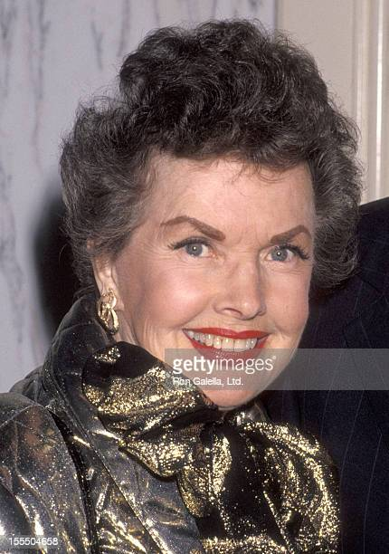 Actress Gale Storm attends The American Cinema Foundation's Surprise 84th Birthday Celebration for Buddy Ebsen on March 20 1992 at Beverly Wilshire...