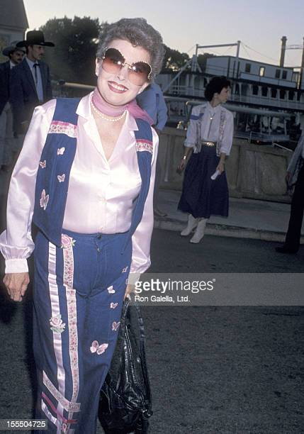 Actress Gale Storm attends the First Annual Pro Celebrity Rodeo Weekend Cocktail Party on August 11 1989 at Los Angeles Equestrian Center in Burbank...