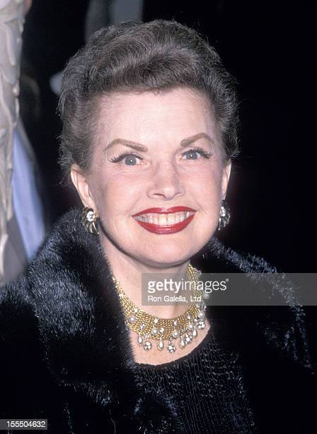 Actress Gale Storm attends the Murder She Wrote 100th Episode Celebration on February 12 1989 at The Biltmore Hotel in Los Angeles California