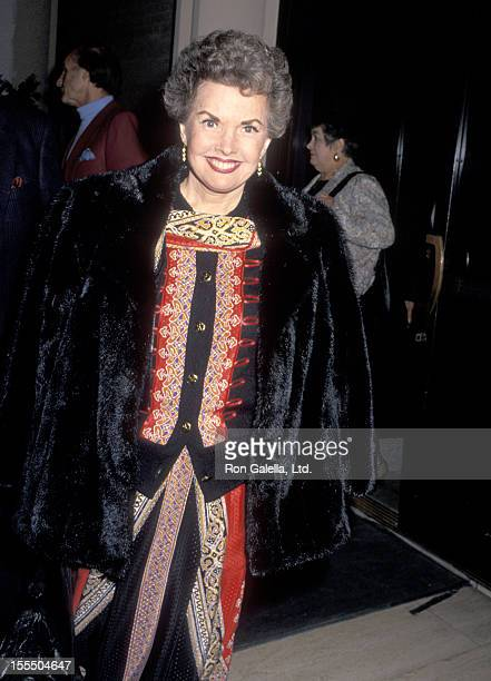 Actress Gale Storm attends The Museum of Broadcasting's Seventh Annual Television Festival KickOff Cocktail Reception on March 5 1990 at the Los...