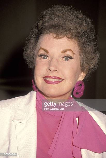 Actress Gale Storm attends The Permanent Charities Committee KickOff Luncheon on September 27 1990 at Beverly Hilton Hotel in Beverly Hills California