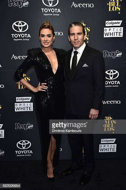 Actress Galilea Montijo and Fernando Reina Iglesias attend People En Espanol's 50 Most Beautiful on May 17 2016 in New York City