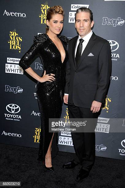 Actress Galilea Montijo and Fernando Reina Iglesias attend People En Espanol's '50 Most Beautiful' at Espace on May 17 2016 in New York City