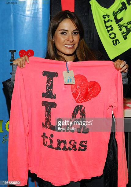 Actress Galilea Montijo attends the 13th annual Latin GRAMMY Awards Gift Lounge held at the Mandalay Bay Events Center on November 14 2012 in Las...