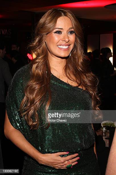 Actress Galilea Montijo attends the 2011 GQ Mexico Men of the Year party at the Salon Arcos Bosques on November 17 2011 in Mexico City Mexico