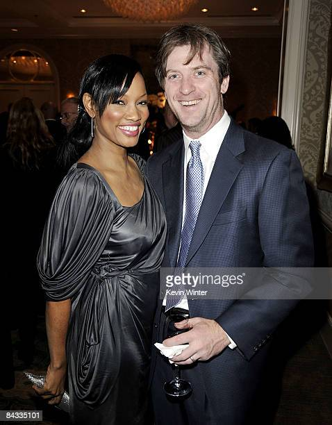 Actress Garcelle Beauvais and her husband Mike Nilon arrive at Plant Now's gala benefit dinner at the Four Seasons Hotel on January 16 2009 in Los...