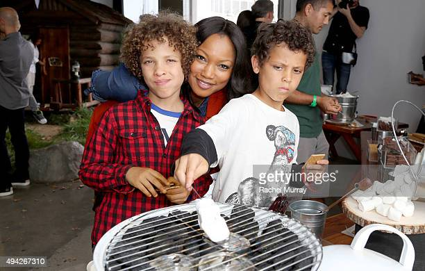 Actress Garcelle Beauvais and her sons attend the Elizabeth Glaser Pediatric AIDS Foundation 26th Annual A Time For Heroes Family Festival at...