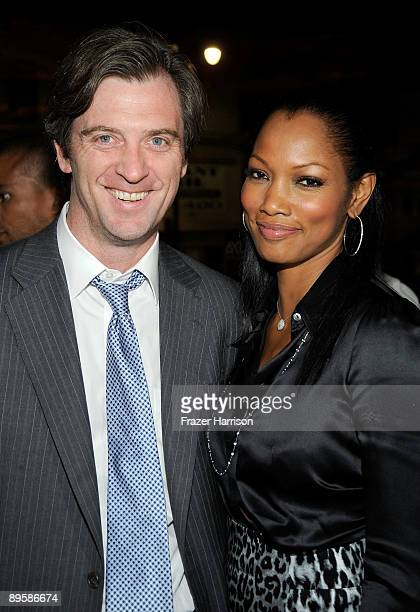 """Actress Garcelle Beauvais and husband Mike Nilon attend the Los Angeles screening of Anchor Bay Entertainments' """"Spread"""" after party held at Katsuya..."""