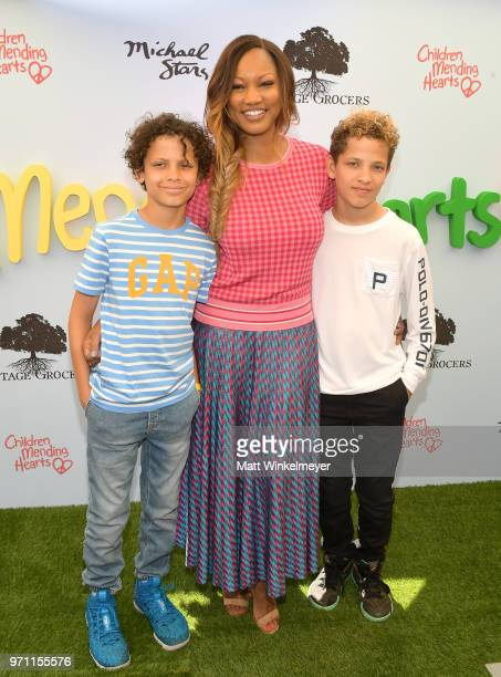 Actress Garcelle Beauvais and sons Jaid and Jax attend Children Mending Hearts' 10th Annual Empathy Rocks on June 10 2018 in Los Angeles California