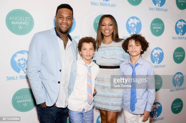 Actress Garcelle Beauvais and sons Oliver Saunders Jaid Thomas Nilon and Jax Joseph Nilon attend the Single Mom's Awards at The Peninsula Beverly...
