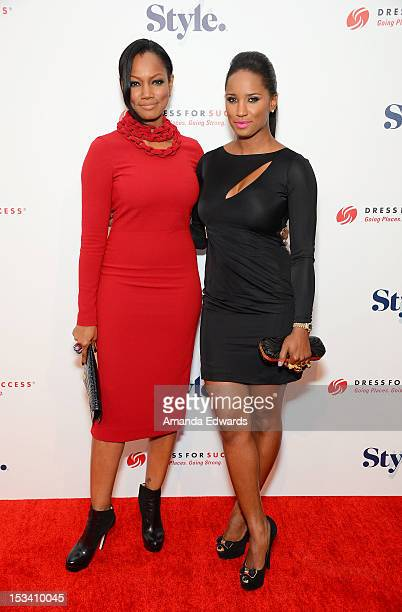 Actress Garcelle Beauvais and Toni Duclottni arrive at the 4th Annual Give Get Fete at SLS Hotel on October 4 2012 in Beverly Hills California