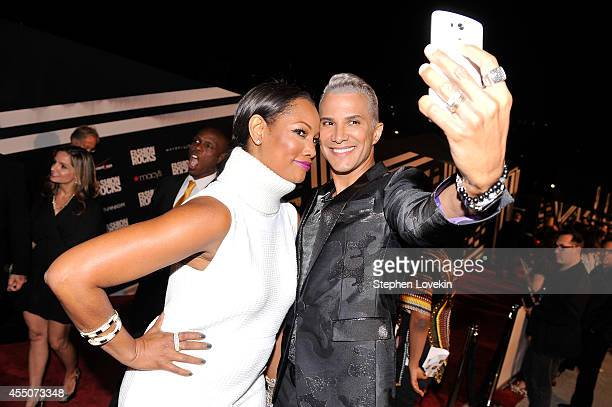 Actress Garcelle Beauvais and TV personality Jay Manuel attend LG and Mazda at Fashion Rocks 2014 at the Barclays Center of Brooklyn on September 9...