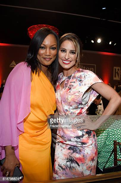 Actress Garcelle Beauvais and TV personality Kristen Brockman attend the 27th Annual GLAAD Media Awards at the Beverly Hilton Hotel on April 2 2016...