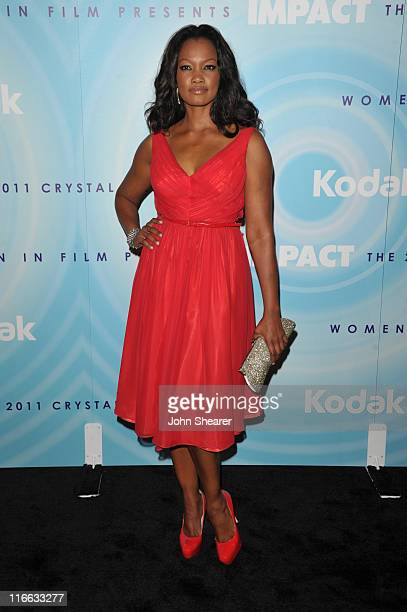 Actress Garcelle Beauvais arrives at the 2011 Women In Film Crystal Lucy Awards with presenting sponsor PANDORA jewelry at the Beverly Hilton Hotel...