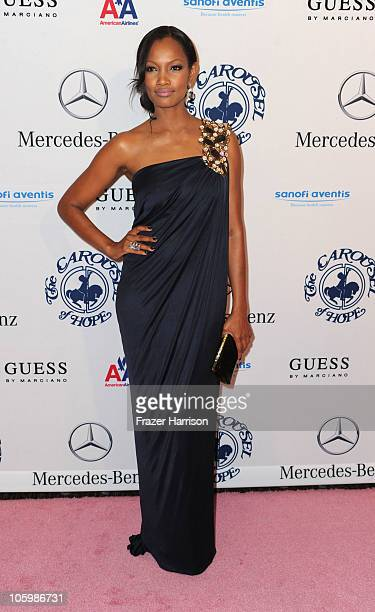 Actress Garcelle Beauvais arrives at the 32nd Anniversary Carousel Of Hope Gala at the Beverly Hilton Hotel on October 23 2010 in Beverly Hills...