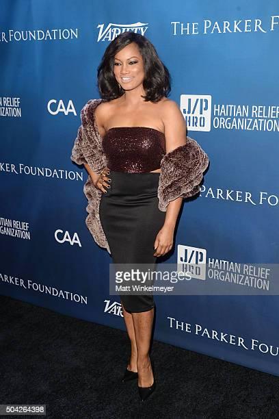 Actress Garcelle Beauvais arrives at the 5th Annual Sean Penn Friends HELP HAITI HOME Gala benefiting J/P Haitian Relief Organization at Montage...