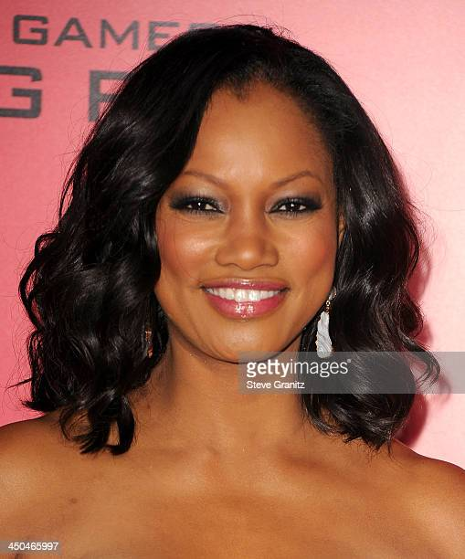 Actress Garcelle Beauvais arrives at the Los Angeles premiere of 'The Hunger Games Catching Fire' at Nokia Theatre LA Live on November 18 2013 in Los...
