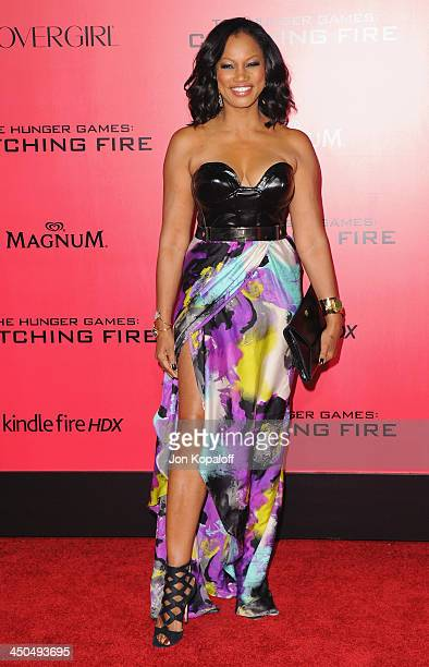 """Actress Garcelle Beauvais arrives at the Los Angeles Premiere """"The Hunger Games: Catching Fire"""" at Nokia Theatre L.A. Live on November 18, 2013 in..."""