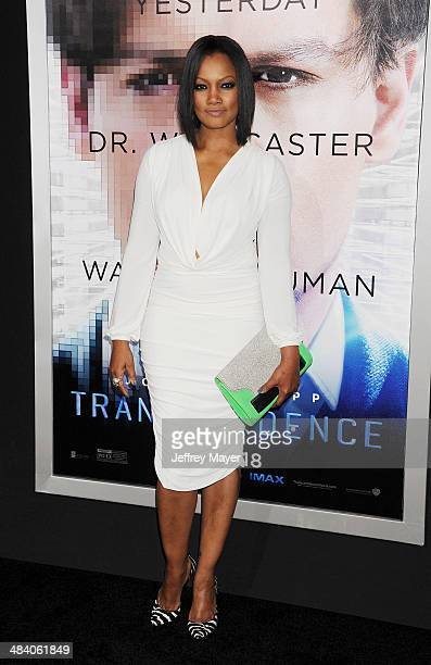 Actress Garcelle Beauvais arrives at the 'Transcendence' Los Angeles Premiere at Regency Village Theatre on April 10 2014 in Westwood California