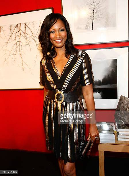 Actress Garcelle Beauvais attend the LA Art and Antique Show benefiting PS Arts at Barker Hanger on April 22 2009 in Santa Monica California
