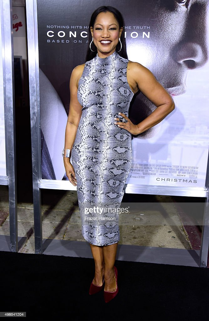 Actress Garcelle Beauvais attends a Screening Of Columbia Pictures' 'Concussion' at Regency Village Theatre on November 23, 2015 in Westwood, California.