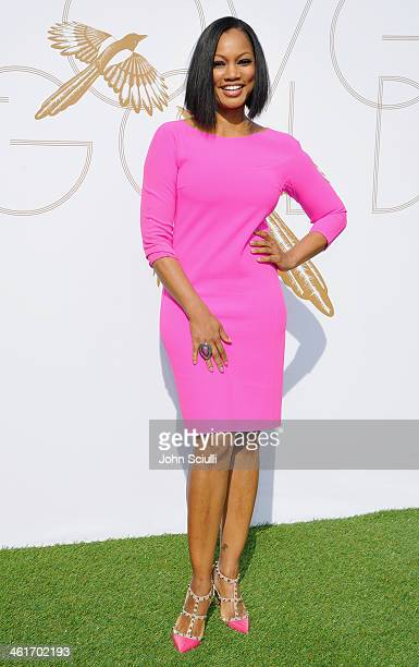 Actress Garcelle Beauvais attends LOVEGOLD Luncheon celebrating Michelle Dockery at Chateau Marmont on January 9 2014 in Los Angeles California