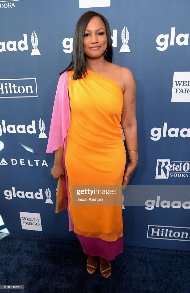Actress Garcelle Beauvais attends the 27th Annual GLAAD Media Awards at the Beverly Hilton Hotel on April 2, 2016 in Beverly Hills, California.