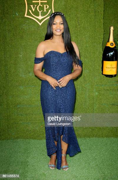 Actress Garcelle Beauvais attends the 8th Annual Veuve Clicquot Polo Classic at Will Rogers State Historic Park on October 14 2017 in Pacific...