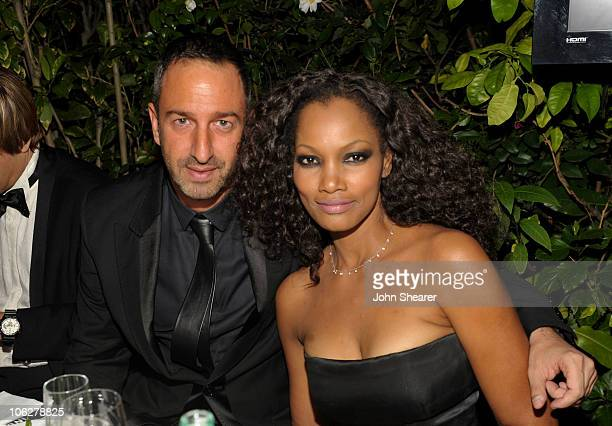 Actress Garcelle Beauvais attends the amfAR Inspiration Gala celebrating men's style with Piaget and DSquared 2 at Chateau Marmont on October 27 2010...