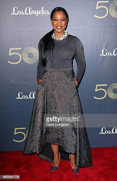 Actress Garcelle Beauvais attends The Music Center's 50th Anniversary Spectacular at the Dorothy Chandler Pavilion on December 6 2014 in Los Angeles...