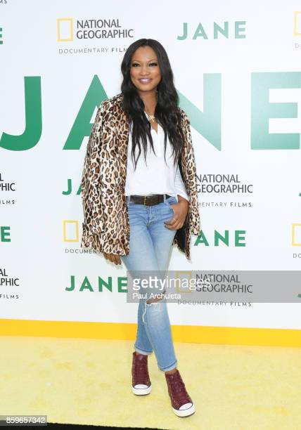 Actress Garcelle Beauvais attends the premiere of National Geographic documentary films' 'Jane' at the Hollywood Bowl on October 9 2017 in Hollywood...