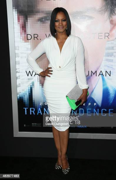 Actress Garcelle Beauvais attends the premiere of Warner Bros Pictures and Alcon Entertainment's 'Transcendence' at the Regency Village Theatre on...
