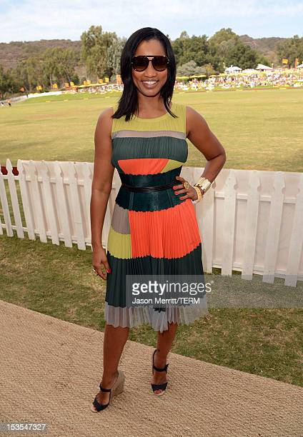 Actress Garcelle Beauvais attends the Third Annual Veuve Clicquot Polo Classic at Will Rogers State Historic Park on October 6 2012 in Pacific...