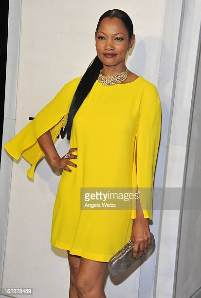 Actress Garcelle Beauvais attends Tom Ford's cocktail event in support of Project Angel Food at TOM FORD on February 21 2013 in Beverly Hills...