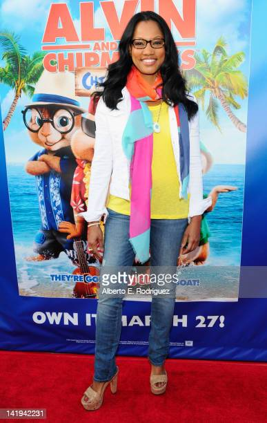 Actress Garcelle Beauvais attends Twentieth Century Fox Home Entertainment's Alvin and the Chipmunks Chipwrecked Bluray and DVD release party at El...