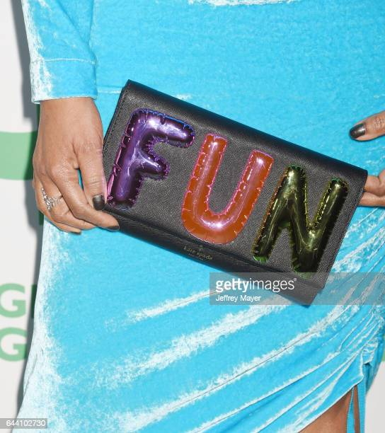 Actress Garcelle Beauvais handbag ring detail at the 14th Annual Global Green PreOscar Gala at TAO Hollywood on February 22 2017 in Los Angeles...