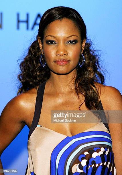 Actress Garcelle Beauvais in the front row at the Kevan Hall Fall 2007 fashion show during Mercedes Benz Fashion Week held at Smashbox Studios on...
